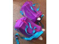 2 Trunki Ride-on Suitcases - Penelope the Princess (Purple)