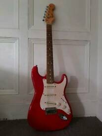 Squire Electric guitar Red