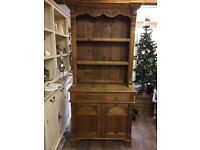 Beautiful carved pine Welsh Dresser