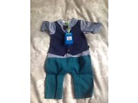 Brand new Ted Baker Baby boys' waistcoat romper with tags, 3 - 6 months