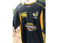 LONDON WASPS 2007/2008 HOME Shirt Jersey size Large