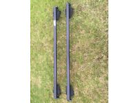 Thule Roof Bars complete with foot pack and 2 keys