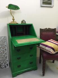 Vintage compact size bureau / ladies writing desk shabby chic