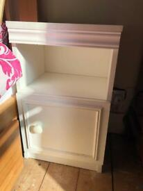White bedside table perfect condition