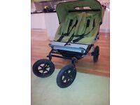 Mountain Buggy Urban double pushchair stroller buggy