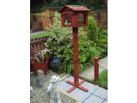 wooden bird feeding table