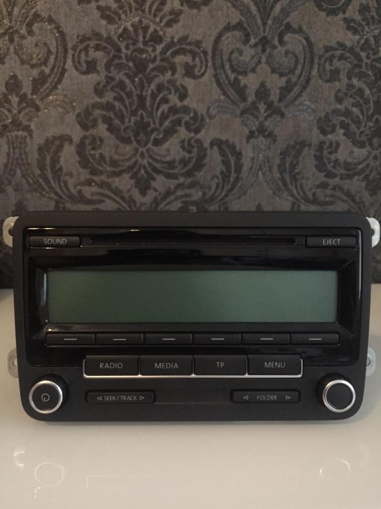 VW Golf Mk6 Bosch RCD 310 MP3 Aux Stereo Radio Player + Manual Book. Exc