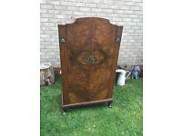 Antique Queen Anne style walnut cabinet