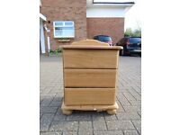 REAL WOOD Bedside Dresser Cabnet with 3 Draws for PROJECT WORK
