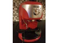 Delonghi Traditional Pump Espresso Coffee Machine Red