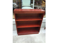 Solid bookcase , in good condition. Has 3 shelves .- ( 3 available)