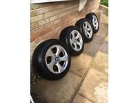 """BMW 16"""" Wheels with Run flat Tyres."""