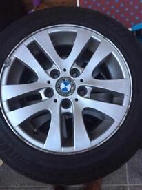 Bmw standard alloys with 4 good tyres 120 ono