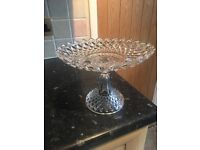 Glass cake stand vintage style