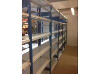 JOB LOT 100 bays PROVOST industrial shelving 2.1m high ( storage , pallet racking )