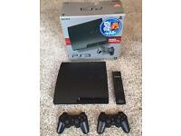 Sony PlayStation 3 Slim - 320Gb - 2 Controllers - PS3 Remote - 8 Games - PS3