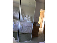 Sliding mirror doors one pair and track good condition