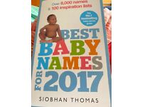 Best Baby Names Book - by Siobhan Thomas - 2017 VGC