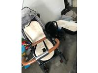 Silvercross pushchair, carry cot and car seat