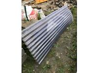 Clear corrugated sheets x 2