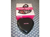 PrettyPink Black Heart Shaped Cosmetic Box and Make-up Set, BRAND NEW BOXED