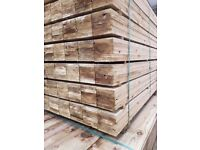 🌟 Treated Feather Edge Timber Pieces / Boards