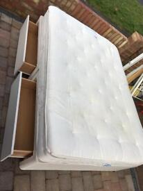Quality double divan bed with 4 draws and mattress