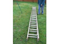 Forty foot aluminium ladders- extending.