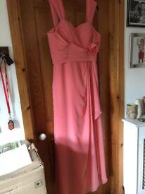 2 Coral bridesmaid dresses