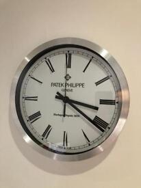 Patek Philippe Dealer Wall Clock Rolex Tag Cartier Audemars