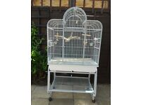 Parakeet cage, Birdcage San Remo III - Platinum by Montana Cages plus toys and perch
