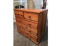 Pine chest of drawers with possible delivery