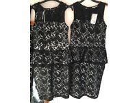 Black peplum dress from Oasis BNWT size 8/10