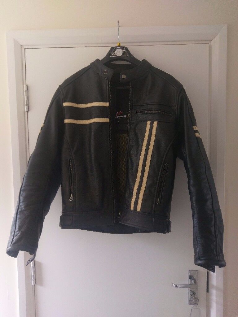 Prospeed leather motorcycle jacket. Size Small.