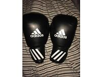 Adidas boxing gloves.