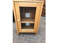 Hifi cupboard with glass door