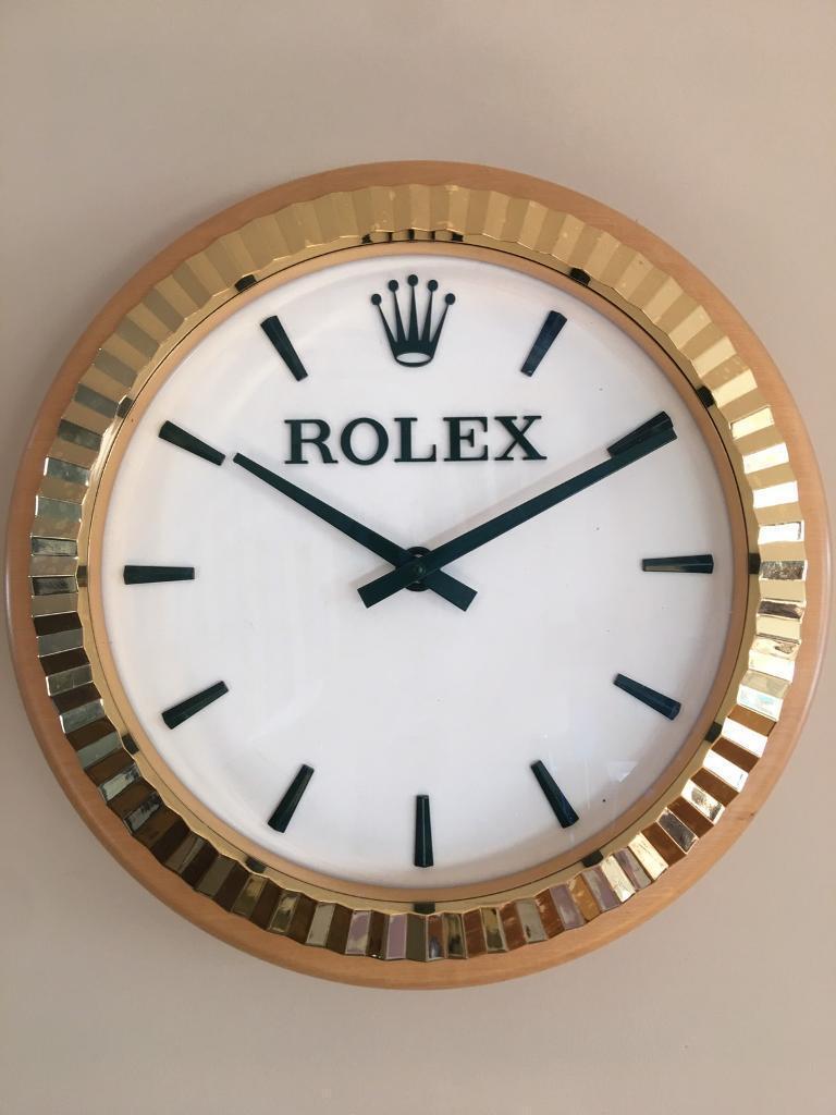 Rolex dealer display wall clock in crook county durham gumtree rolex dealer display wall clock amipublicfo Gallery