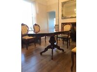 Rococo Mahogany Dining Table