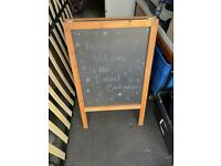 Double sided shop free standing black board sign notice £15 ne25
