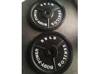Body Power Cast Iron Olympic Discs - 25kg (x2)