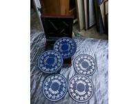 Leather Look coasters an box