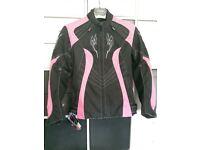BNWT Ladies Armoured Motorcycle Jacket - Large 12/14