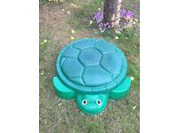 Green Plastic Turtle Sandpit