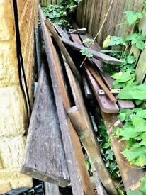Wood/Timber - Wooden Slats From Dismantled Hardwood Garden Picnic Tables.
