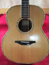Left handed McIlroy custom AJ30 guitar