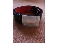 Kilt belt and chrome buckle, adjustable, size range from 37inch to 40inch