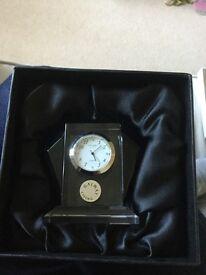 Galway Irish crystal deco clock