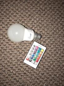 Colour changing lightbulb