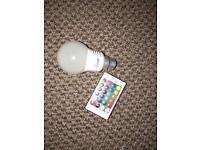 Colour changing lightbulb
