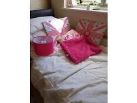Girls bedroom accessories cushions pictures throw lamp shade
